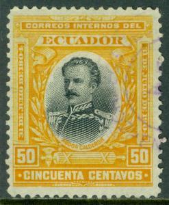 EDW1949SELL : ECUADOR 1904 Scott #165 Very Fine, Used. Nice stamp. Catalog $120.