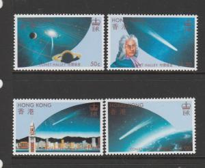Hong Kong 1986 halleys comet UM/MNH SG 507/10