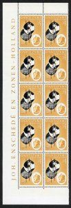 SWAZILAND SG90w 1962 1/2c black brown and yellow-brown WMK INV block of 10 U/M