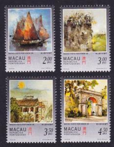 Macao Macau Paintings of Macao by Kwok Se 4v SG#974-977 MI#899-902 SC#860-863