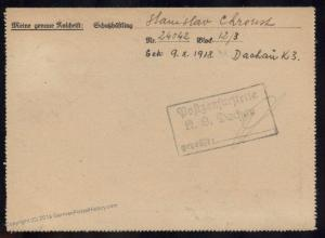 3rd Reich Germany 1945 Concentration Camp KL Dachau Cover 91648