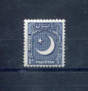 Pakistan 47, MNH, Dark Blue 1950. x28441