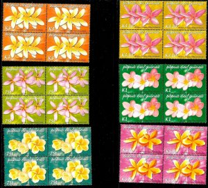 #8017A PAPUA 2005 FLORA FLOWERS ORCHIDS BLOC OF 4 YV 1045-50 MNH