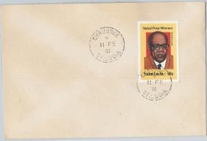 62310  -  ST LUCIA - POSTAL HISTORY -   COVER 1981: CHAUSEE