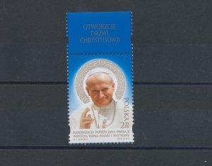 2014 Poland, Canonization Di John Paul II ° , N° 1661, Issue With