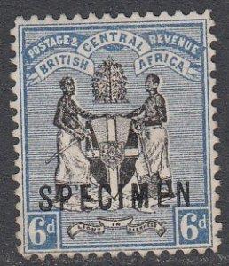 Nyasaland Protectorate 35 MH Specimen Overprint CV $26.00