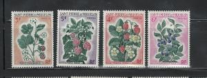 ST. PIERRE & MIQUELON 1970 FLOWERS #400 - 402 MH $12.00