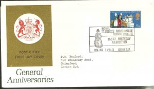 1970 FLORENCE NIGHTINGALE GPO FDC WITH FLORENCE NIGHTINGALE SPECIAL CANCEL