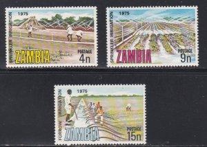 Zambia MNH 153-5 Irrigation Of Crops 1975