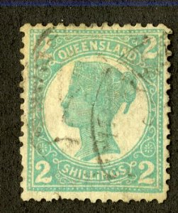 QUEENSLAND 122 USED SCV $50.00 BIN $22.50