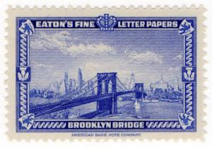 (I.B) US Cinderella : Eaton's Fine Letter Papers (Brooklyn Bridge)