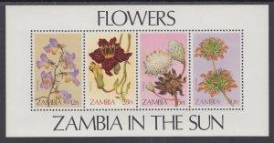 Zambia 283a Flowers Souvenir Sheet MNH VF