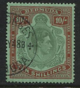 Bermuda KGVI 1938 10/ perf 14 used (JD)