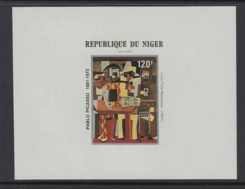 XG-S248 PAINTINGS - Nigeria, 1981 Picasso Centenary Deluxe Proof MNH Sheet