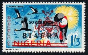 Biafra 1968 Definitive Sovereign Biafra Overprint #12 Crown Bird