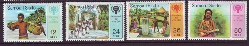 J19653 Jlstamps 1979 samoa set mnh #499-502 people