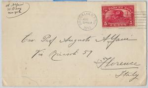 58696 - United States - POSTAL HISTORY: PARCEL POST Scott # Q5 on COVER to ITALY