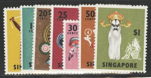 Singapore Postage Stamps Catalog No 86a-95a, Mint NH, 7V CPLT