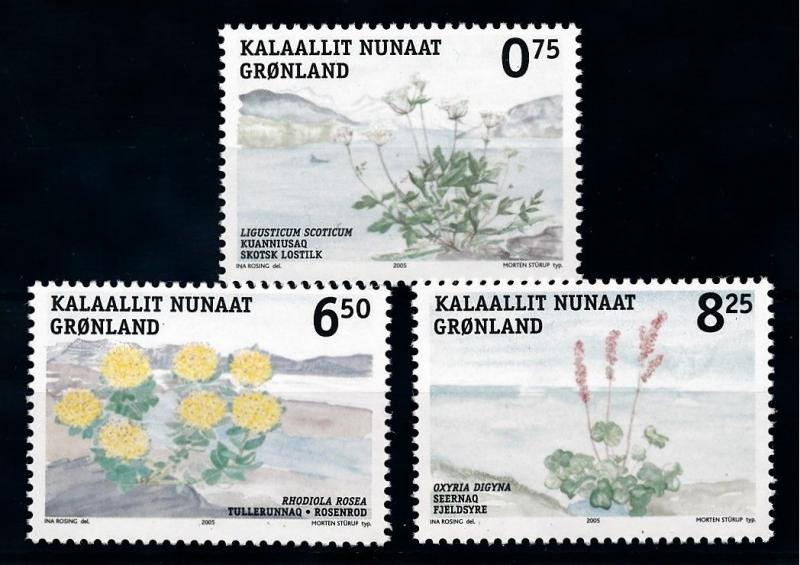 [69847] Greenland 2005 Flora Edible Plants Flowers  MNH