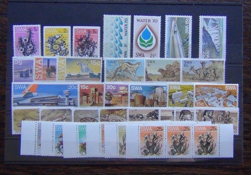 South West Africa 1970 1978 sets Water Fauna Airport Animals Succulents MNH