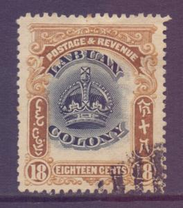 North Borneo Labuan Scott 106 - SG125, 1902 Crown Colony 18c used CTO
