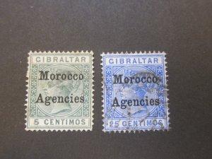 Morocco Agencies 1899 Sc 12,15 FU
