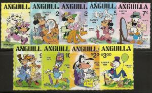 Anguilla 434-43 1981 Easter Disney set and s.s.
