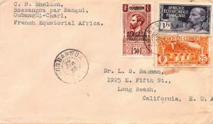 French Equatorial Africa, Middle Congo, Mixed Franking, Used on 1938-39 Cover