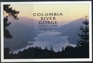 UNITED STATES POSTAL SERV 1992 COLUMBIA RIVER GORGE  POSTCARD FIRST DAY PROGRAM