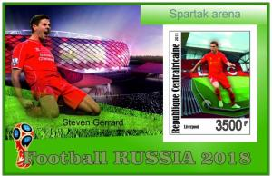 CENTRAFRICAINE SHEET WORLD CUP RUSSIA SOCCER FOOTBALL SPORTS 6