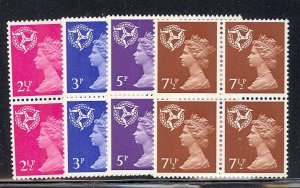 Isle of Man  #8-11 blocks, Post. Due 1972, 73 VF NH  - Lakeshore Philatelics