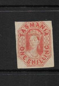 TASMANIA  1858  1/-     QV  MLH   SG 41