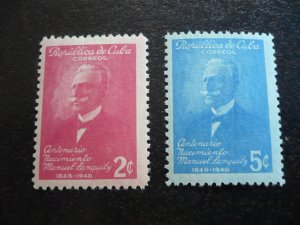 Stamps - Cuba - Scott# 435-436 - Mint Hinged Set of 2 Stamps