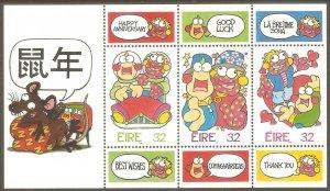 IRELAND Sc# 995c MNH FVF SS Greetings Cartoons