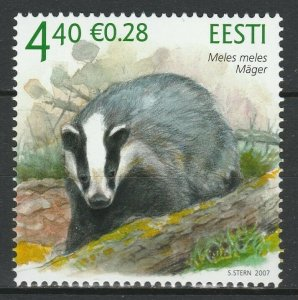 Estonia 2007 Fauna, Animals MNH Stamp