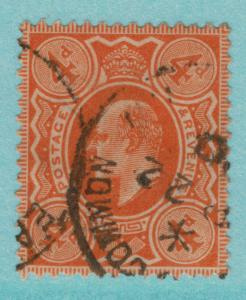 Great Britain Stamp Scott #144, Used, 1910 4p Edward VII - Free U.S. Shipping...
