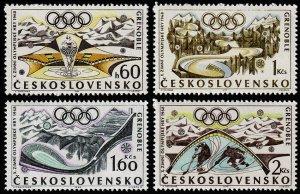 Czechoslovakia Scott 1516-1519 (1968) Mint NH VF Complete Set C
