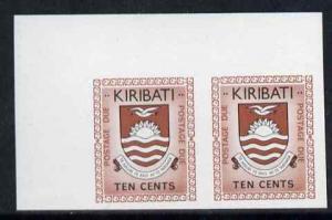 Kiribati 1981 Postage Due 1981 10c black & chestnut i...