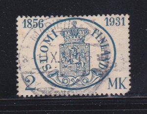 Finland 183 U Coat Of Arms SCV $11.50