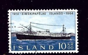 Iceland 359 Used 1964 Ship