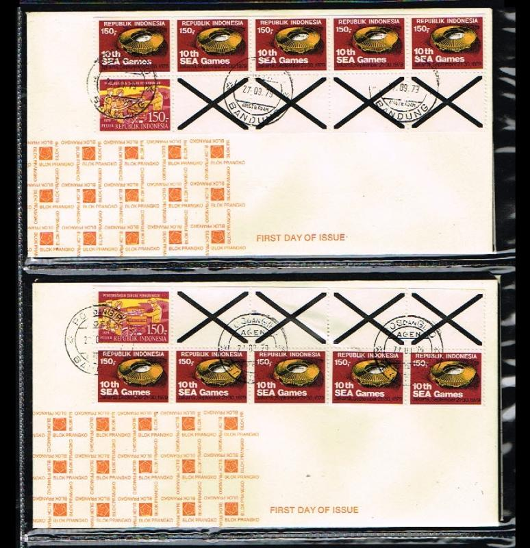 1979 - Indonesia FDC Pb 6a + 6b - Stamps & Coins - Stampbooklets [B12_029]