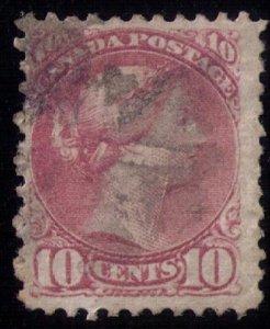 Canada #40 Used Queen Victoria 1888 10c F-VF