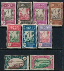 Niger #29-34,6,7,46*  CV $2.70
