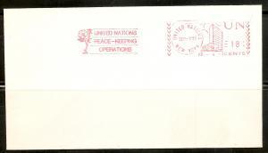 UN New York Meter Gaines #45 1977 Peace-Keeping Philateli...