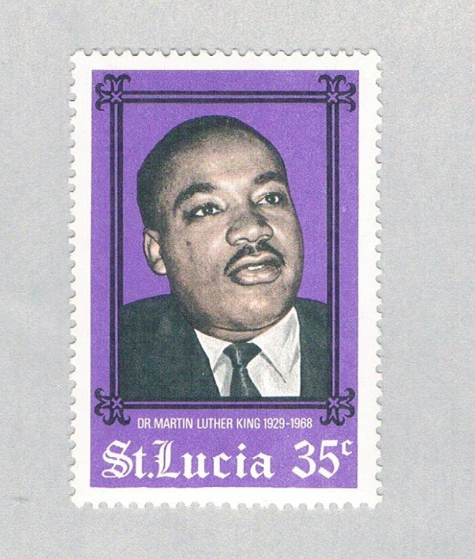 St Lucia MLK violet 35c (AP126703)