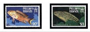 Pitcairn Is 295-96 MNH 1988 Fish          (KA)