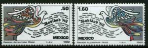 MEXICO 1299-1300 Christmas Holidays MNH