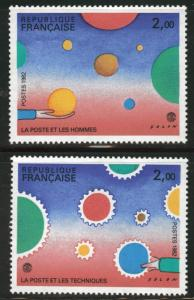 FRANCE Scott 1819-20  MH* mint hinged Philexfrance set 1982