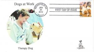 Dogs at Work First Day Cover, w/ 4-bar cancel,  #3