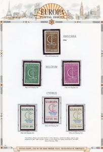 EUROPA  1966  SELECTION OF MINT NH STAMPS AND SOUVENIR SHEETS AS SHOWN